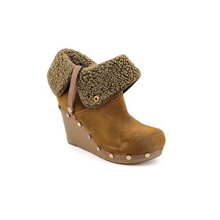 OTBT Arvin Women Round Toe Leather Brown Ankle Boot