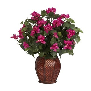 Nearly Natural Bougainvillea with Vase Silk Plant Beauty