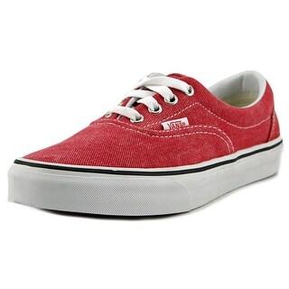 Vans Era Women Round Toe Canvas Red Skate Shoe