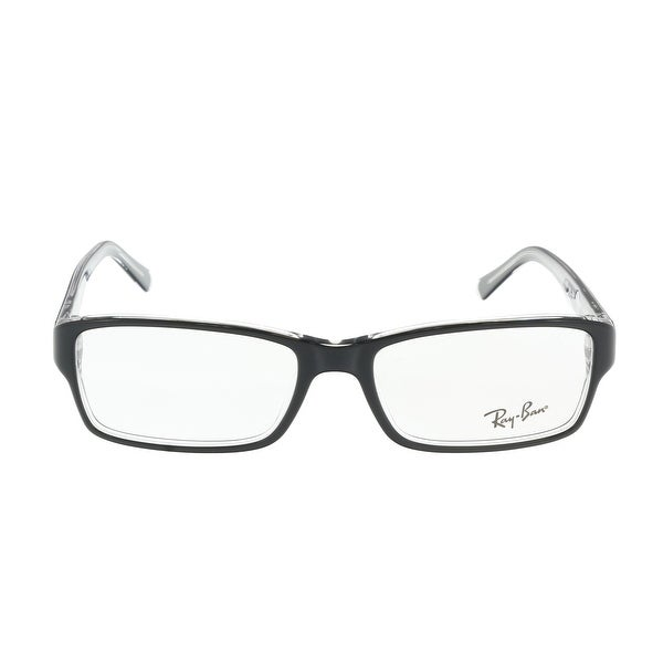 263a280102 Shop Rayban ORX5169 2034 Black Rectangle Optical Frames - 53-17-140 ...