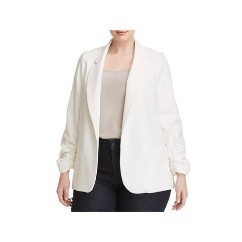 Love...Ady Womens Plus Open-Front Blazer Jacket Business