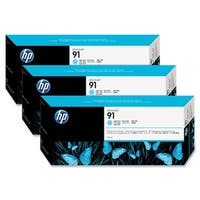 HP 91 775-ml 3 Light Cyan DesignJet Pigment Ink Cartridges (C9486A) (Single Pack)