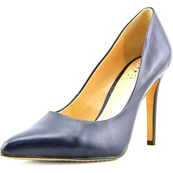 Vince Camuto Kain Women Pointed Toe Leather Blue Heels