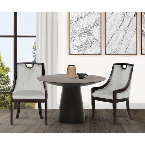 Chic Home June Neo Traditonal Velvet Nailhead Dining Side Chair
