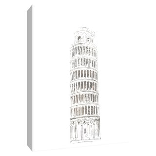 """PTM Images 9-154841  PTM Canvas Collection 10"""" x 8"""" - """"Letter from Pisa"""" Giclee Buildings and Landmarks Art Print on Canvas"""