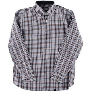 Stone Rose Mens Glen Plaid Long Sleeves Button-Down Shirt - XL