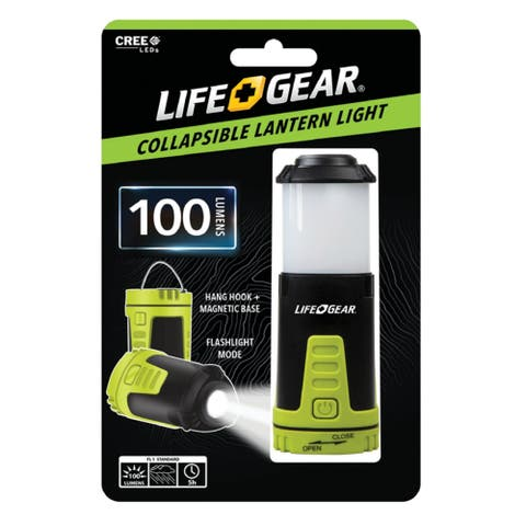 Life Gear 41-3970 Compact Collapsible Lantern & Flashlight, 100 Lumens