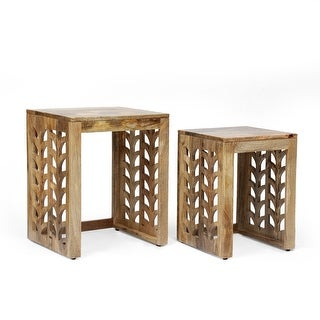 Link to Whitetail Mango Wood Nesting Tables by Christopher Knight Home Similar Items in Living Room Furniture