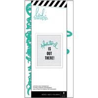 Heidi Swapp Letterboard Words Set-Teal Adventure 8/Pkg
