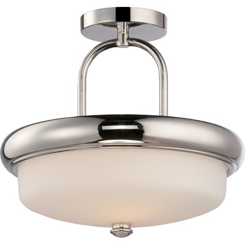"Nuvo Lighting 62/404 Dylan 2 Light 13"" Wide LED Semi-Flush Bowl Ceiling Fixture"