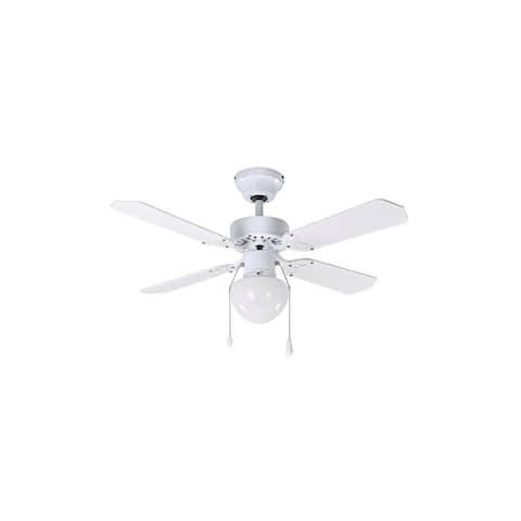 Canarm CF15636411S Galaxy Single Light 4 Blade Hanging Ceiling Fan
