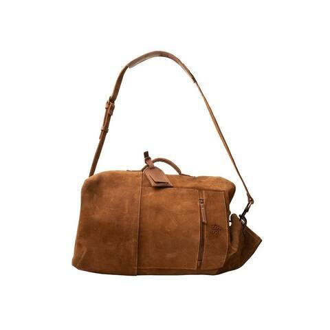 StS Ranchwear Western Bag Adult Calvary Military Duffle Brown - 25 W x 12 H x 11 D