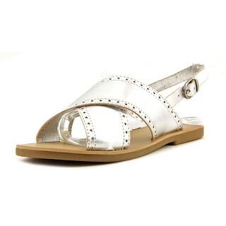 Lucky Brand Birchess Open-Toe Leather Slingback Sandal