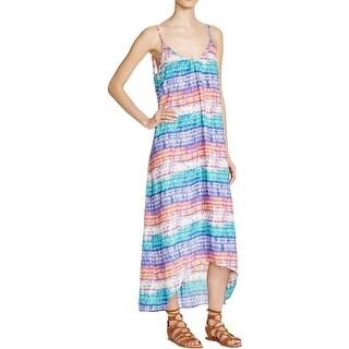 Aqua Womens Sundress Printed V-Neck