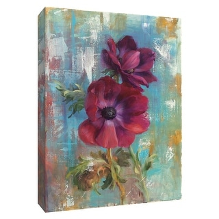 """PTM Images 9-154690  PTM Canvas Collection 10"""" x 8"""" - """"Rich Anemones I"""" Giclee Flowers Art Print on Canvas"""