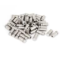 12mmx25mm Stainless Steel Decorative Advertising Screw Nails Silver Tone 50Pcs
