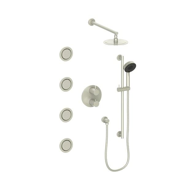 ZLINE Emerald Bay Thermostatic Shower System with Body Jets. Opens flyout.