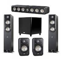Polk Audio Signature 5.1 System with 2 S50 Speakers, 1 Polk S35, 2 Polk S20 Speakers, 1 Polk DSW PRO 550 wi Sub
