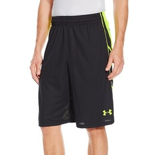 Under Armour NEW Black Neon Mens Small S Basketball Athlete Shorts