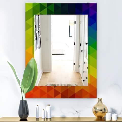 Designart 'Triangular Colourfields 20' Modern Mirror - Wall Mirror