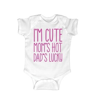Im Cute Moms Hot Dads Lucky Fuchsia- Infant One Piece