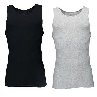 Fruit of the Loom Men's Black and Grey A Shirts (2 Pack)