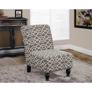 Monarch Specialties Fabric accent chair VI Armless Fabric Occasional Accent Chair