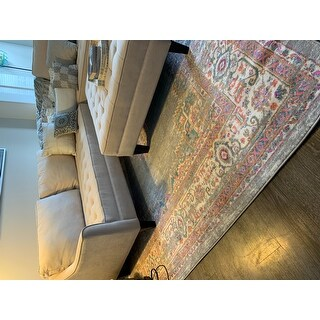 Porch & Den Dobbin Ivory/ Fuchsia Area Rug