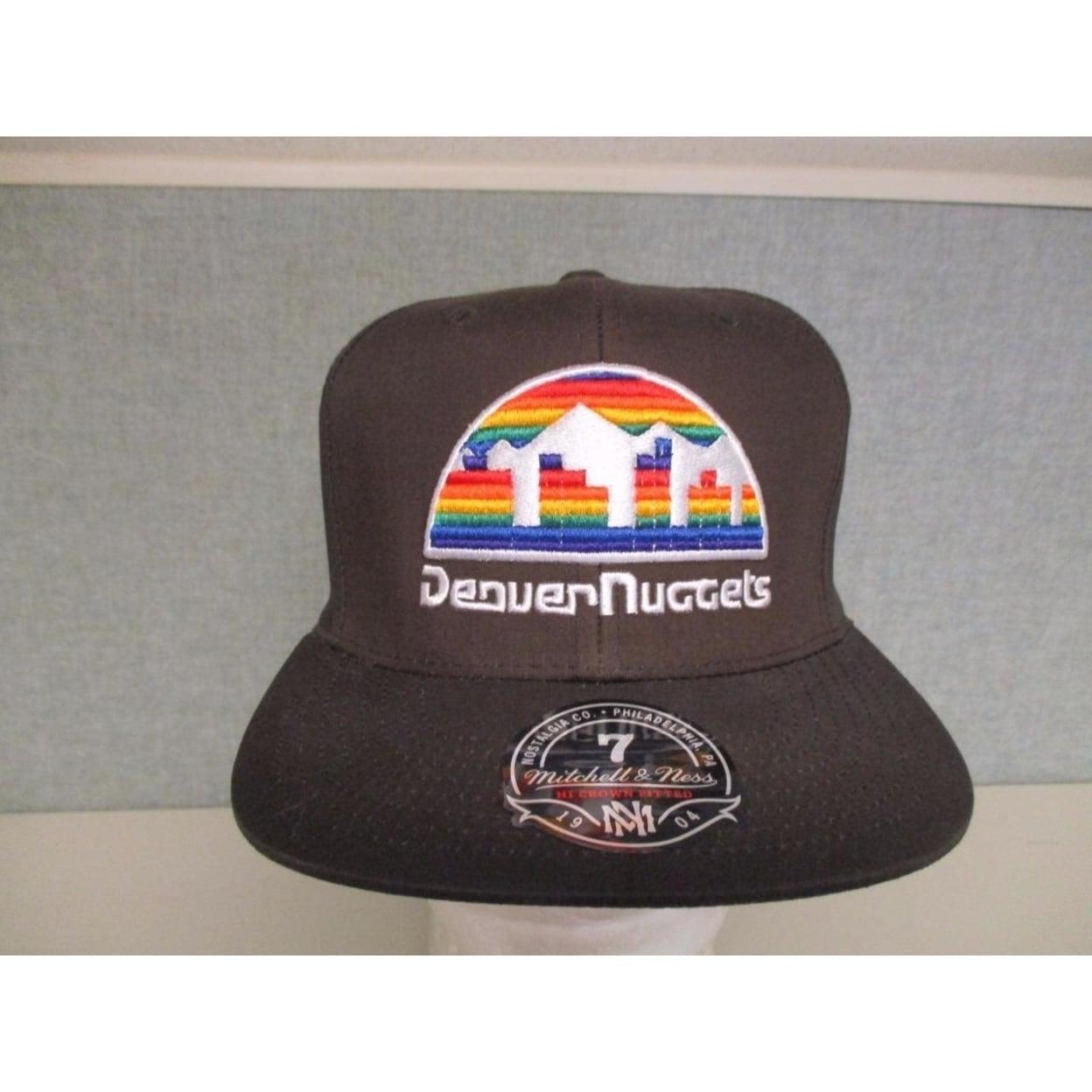 Denver Nuggets Mens Mitchell & Ness 7 1/-1/4-3/8-1/2 Flatbrim Brown/Camo Hat $32 (7 1/8)