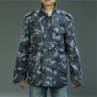 Camo M 65 Field Coat Camouflage Army Tactical Uniform Jacket M1965 Blue XS XS