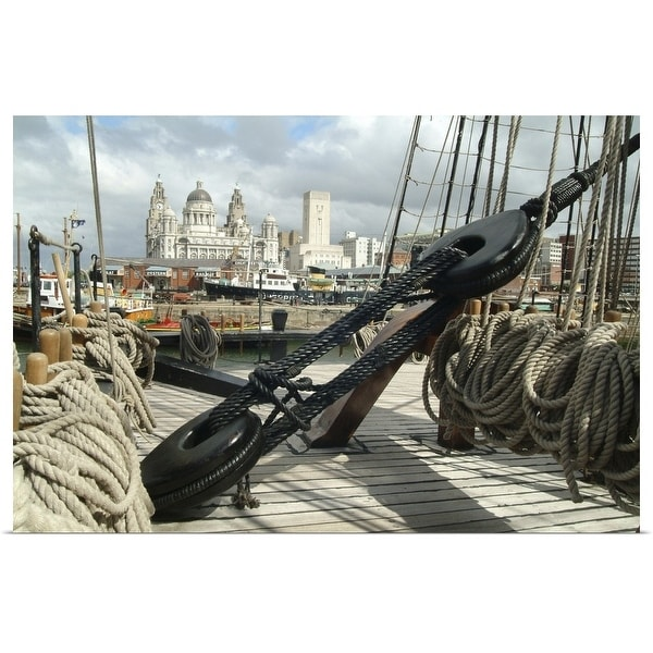 """""""The ropes of a ship at the Mersey River Festival in Liverpool, England, UK"""" Poster Print"""