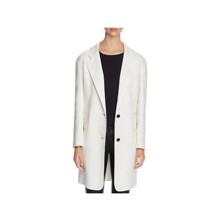 DKNY Womens Long Coat Drop Shoulder Long Sleeves