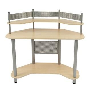 Offex Study Corner Desk - Silver/Maple