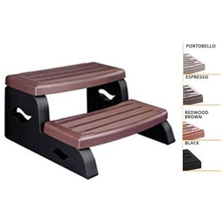 Leisure Concepts DSII-BR Black Ii Spa Step, Redwood