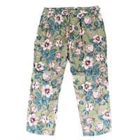 Lauren by Ralph Lauren Green Womens 6 Floral Print Pants Stretch