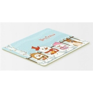 Carolines Treasures BB2466CMT Merry Christmas Carolers Bull Terrier Red & White Kitchen or Bath Mat 20 x 30