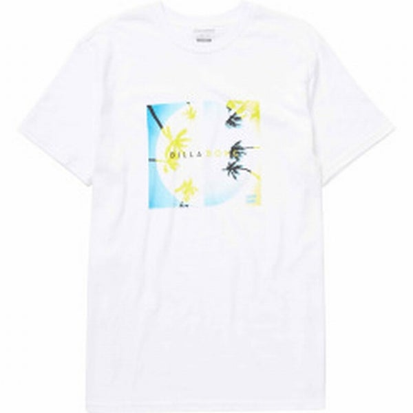 591d99a6 Shop Billabong NEW White Mens Size Large L Palm Tree Graphic Tee T ...