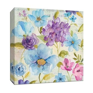 """PTM Images 9-147155  PTM Canvas Collection 12"""" x 12"""" - """"Cool Morning III"""" Giclee Flowers Art Print on Canvas"""