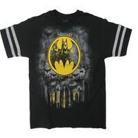 DC Comics Little Boys Black Yellow Batman Short Sleeve Cotton T-Shirt
