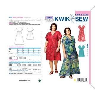 Dresses-1X - 2X - 3X - 4X -*SEWING PATTERN*