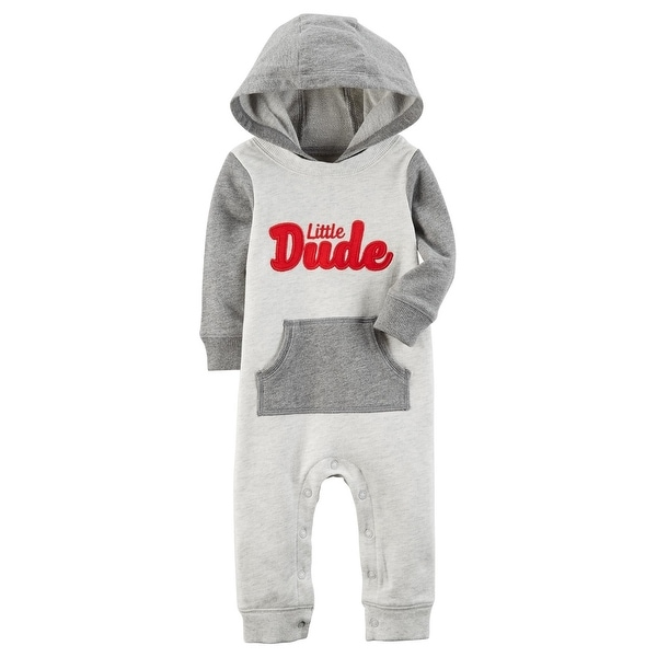 0037968e52a4 Shop Carter s Baby Boys  Little Dude Hooded Jumpsuit