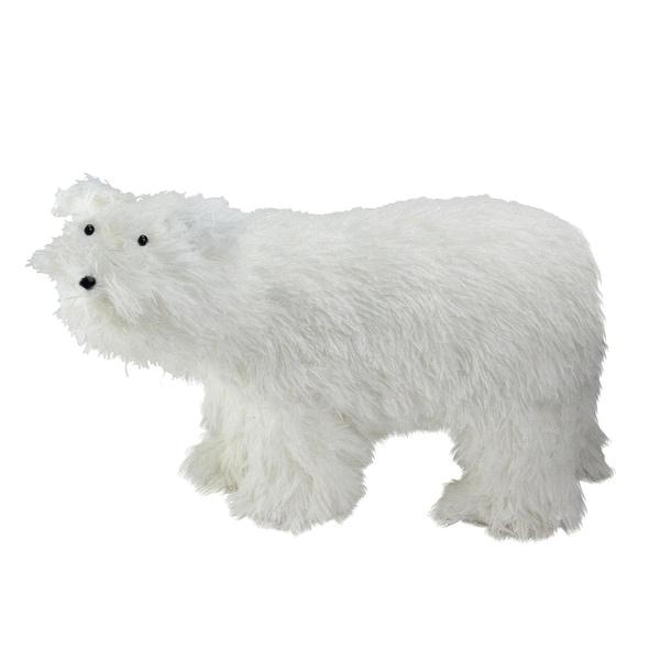 "17"" Winter's Beauty White Standing Polar Bear Christmas Figure Decoration"