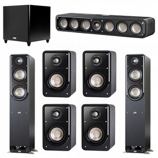 Polk Audio Signature 7.1 System with 2 S50 Speakers, 1 Polk S35, 4 Polk S15 Speakers, 1 Polk DSW PRO 660 wi Sub