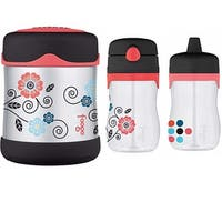 Thermos Foogo Insulated 10oz Food Jar and 11oz Travel Drink Bottle - Poppy Patch