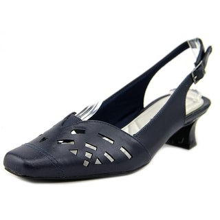 Easy Street Adorable W Square Toe Synthetic Slingback Heel