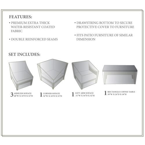 Miseno Mpf Mhtn06dwc Nyc 6 Piece Canvas Winter Cover For The Mhtn06d Outdoor Conversation Set Free Shipping Today 13057715