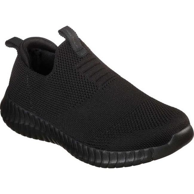 Skechers Boys' Elite Flex Wasick Slip On Sneaker BlackBlack
