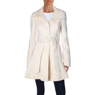 Jessica Simpson Womens Trench Coat Wool Blend Funnel Neck
