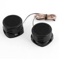 Unique Bargains 500 Watt Dome Tweeter Speaker Car Stereo Kit Black 2.8V 2 Pcs