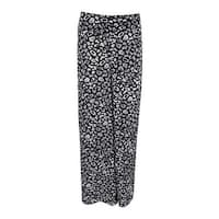 Bar III Women's Chiffon Printed  Pants - Black Combo - XS